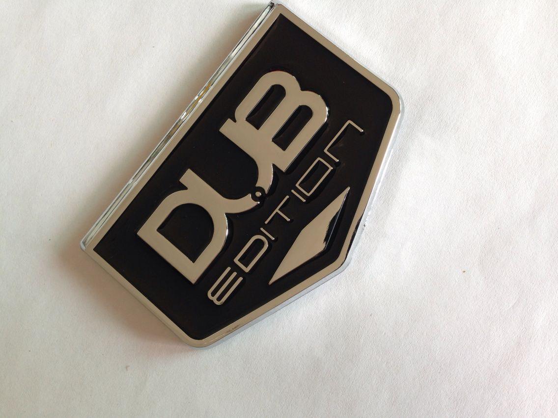 Chrome DUB Edition Plaque signalétique EMBLEM 20pcs