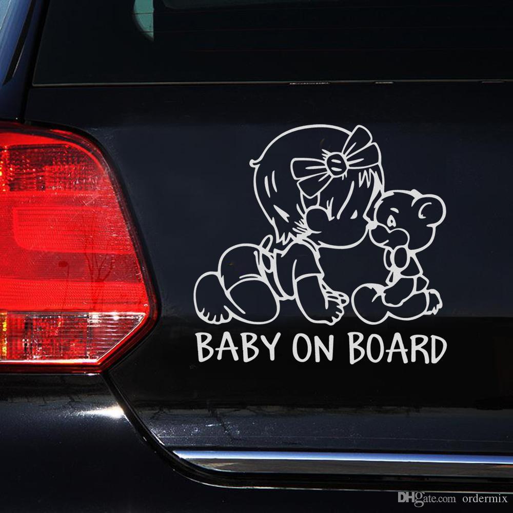 Samochód Naklejki i naklejki Śmieszne Dekoracja Auto Motocykl Naklejka Dziecko na pokładzie Cute Exterior Akcesoria Car-Styling