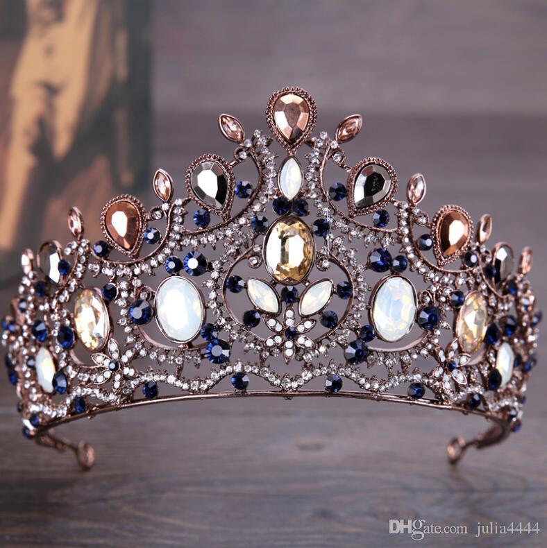 رائع الزفاف التيجان للعرائس خمر الزفاف الماس مهرجان التيجان هيرباند آلهة كريستال الحفلة مهرجان الشعر مجوهرات خوذة