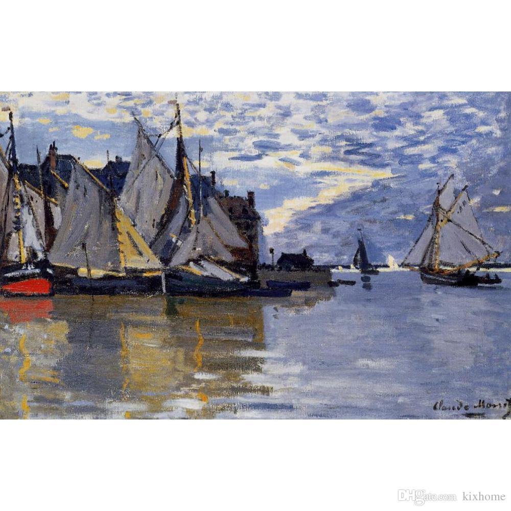 Claude Monets Sailboats Gym Bag