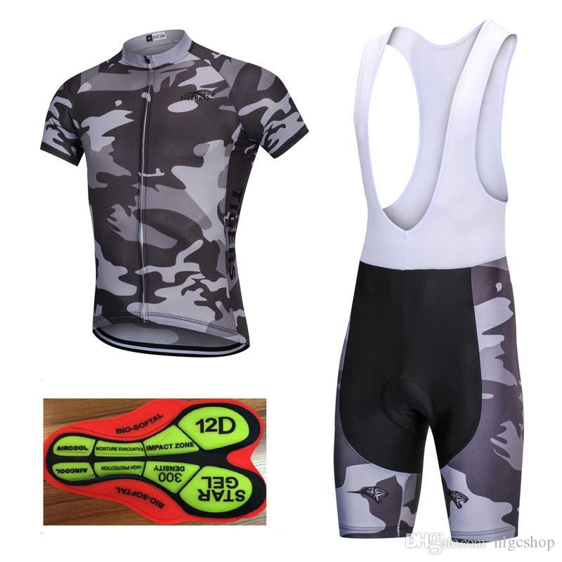 2018 Pro team Cycling Jersey set Quick Dry Breathable Cycling shorts Bib Mountain Bike Clothes Cycling shorts Bib Bicycle Sportswear Q24