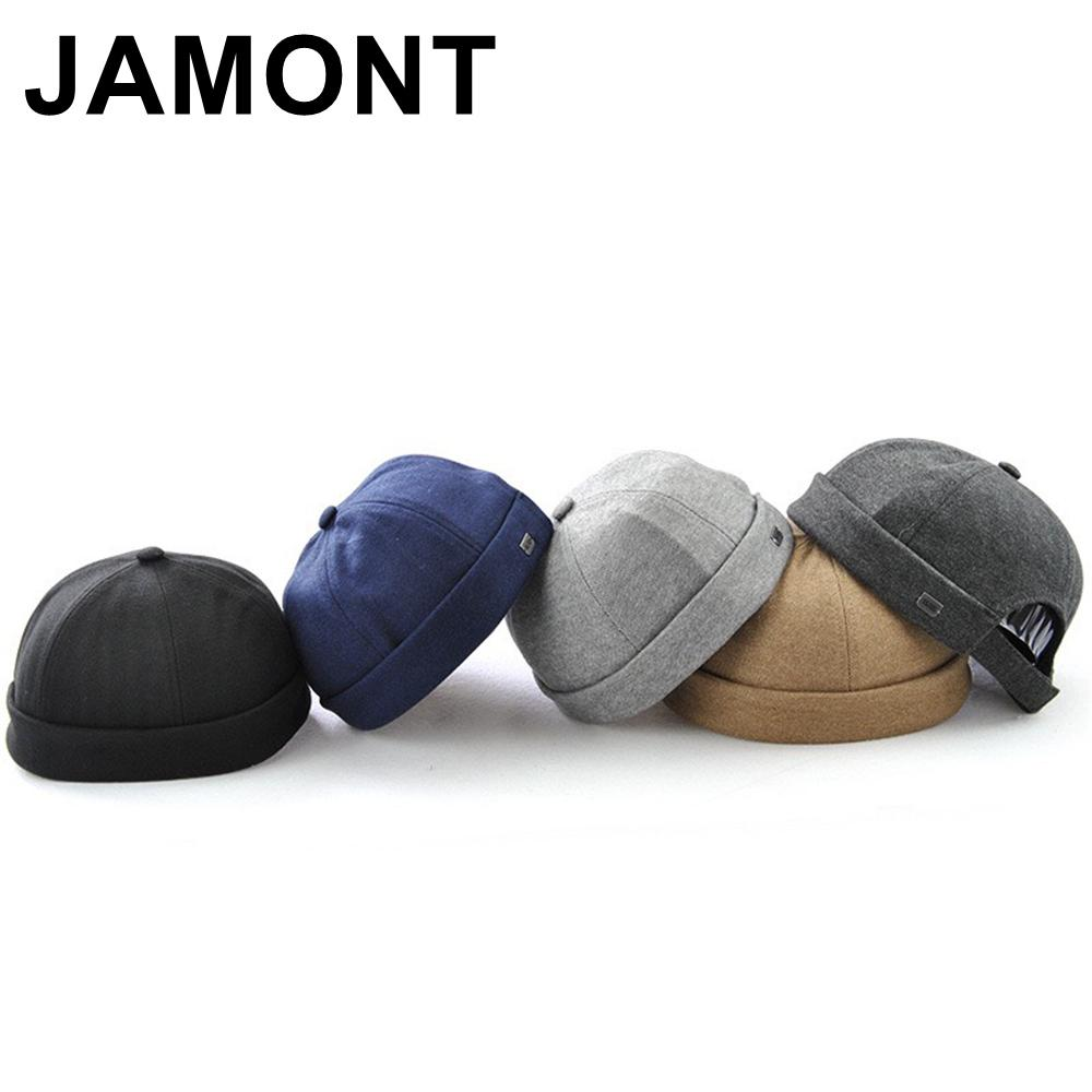Jamont Brimless Cotton Cap For Men Women Street Dance Skull Caps Gorras Para Hombre Hip Hop Hat Adjustable Chapeau Baseball Hats