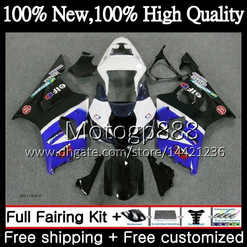 Cuerpo para SUZUKI GSX-R1000 k3 GSXR-1000 GSXR 1000 03 04 Carrocería 29PG21 Stock azul GSXR1000 03 04 K3 GSX R1000 2003 2004 Carrocería para carenado