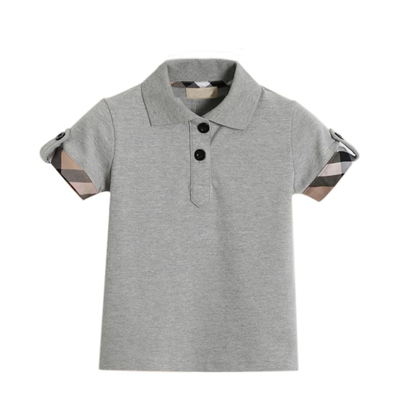Girocollo 2018 Abbigliamento colletto Ragazzi T-Shirt Top T-Shirt estiva traspirante Neonati per 1 -6 anni Polo Shirts Abbigliamento bambino