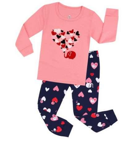 100 хлопок детские пижамы дети Emboridery сердце пижамы пижамы детские пижамы для 2-7Years детская пижамы детские пижамы пижамы
