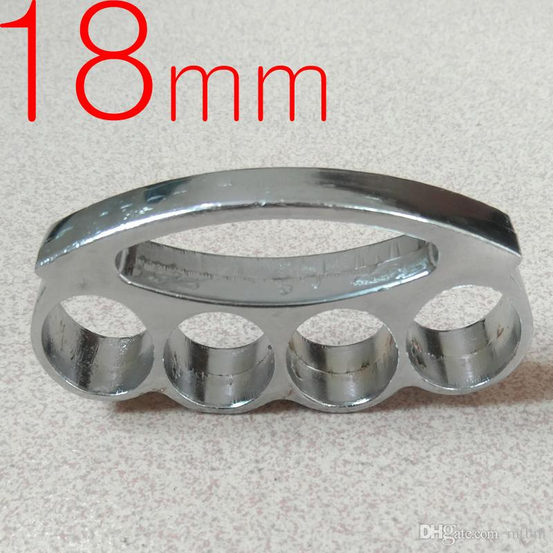 Heavy and Thickness 18mm steel BRASS KNUCKLE DUSTERS BUCKLE defend oneself Powerful hand clasp Self-defense Convenient to carry fox 1pc