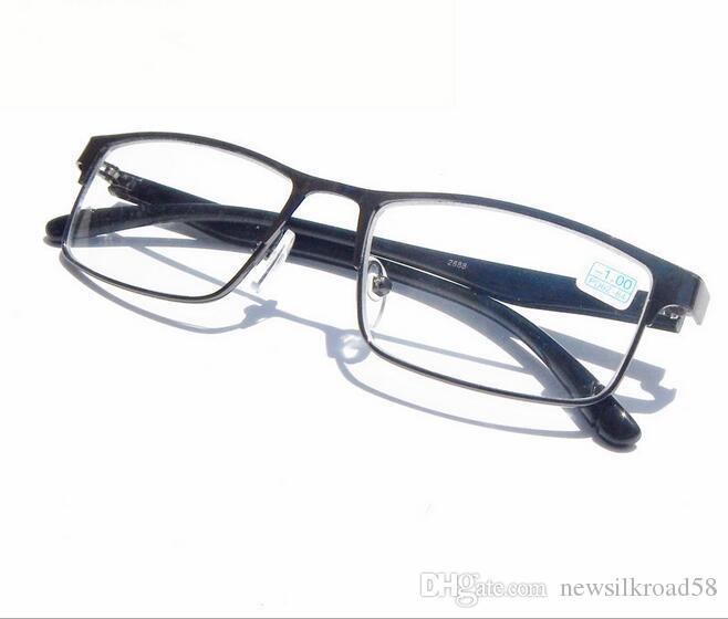Yeni Varış Siyah erkek Tam Jant Miyopi Okuma Gözlükleri Metal Nearsighted Gözlükler -1 to-6.0