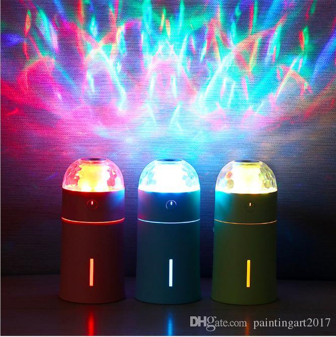 Umidificatore della luce del LED Mini Umidificatore del desktop Mini Diffusore automatico Fogger della foschia di spegnimento automatico USB Fogger per la casa