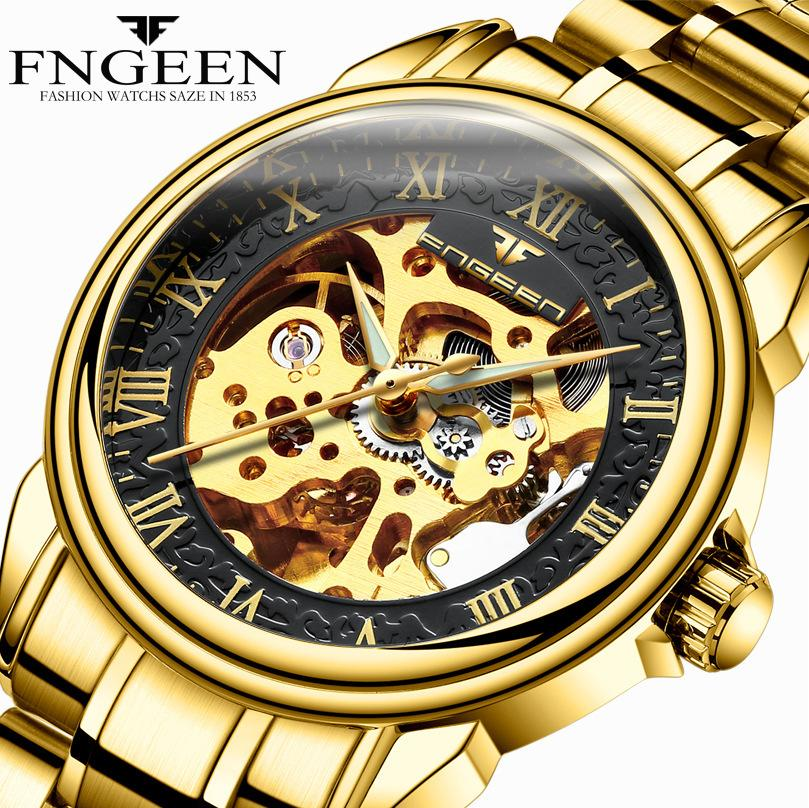 2018 Fashion Automatic Watch Mens Watches Top Brand Luxury Male Clock Business Mechanical Wrist Watch Hodinky Relogio Masculino D18101002