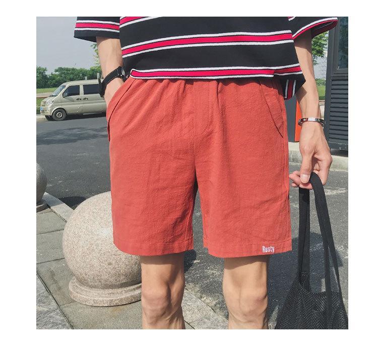 Casual Baggy Beach Männer Shorts Knielangen Straight Brief Stickerei Sommer lose Shorts plus Größe kurze Hombre