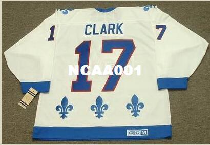 Мужчины #17 Вендель Кларк Квебек Nordiques 1994 CCM старинные ретро Главная хоккей Джерси или обычай любое имя или номер ретро Джерси