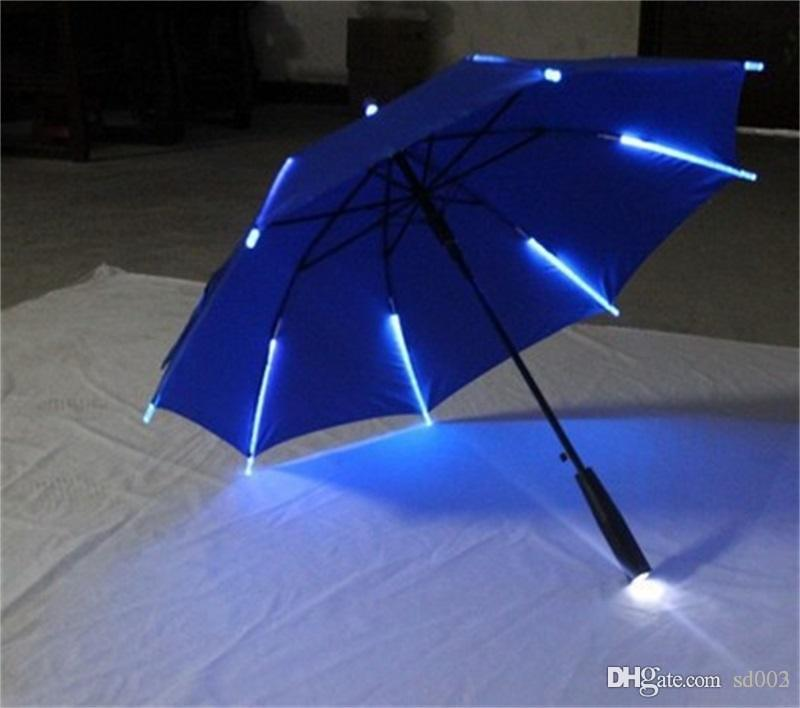 LED Light Umbrella Blade Runner Night Protection Umbrellas Anticorrosive Novelty Paraguas For Party Novelty Decorations Many Colors 38jn ZZ