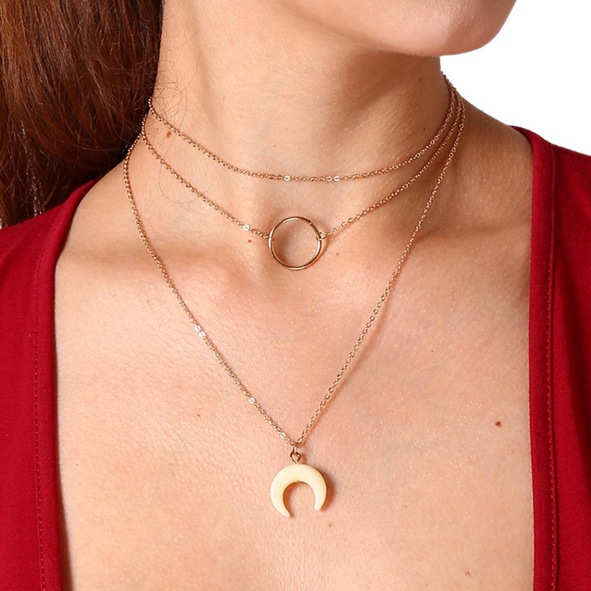 collier femme cercle