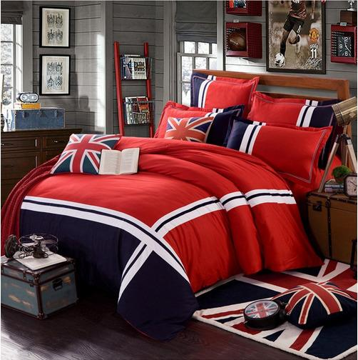 New Modern Union Jack Duvet Cover Bed Set with Pillow Case Single Double King