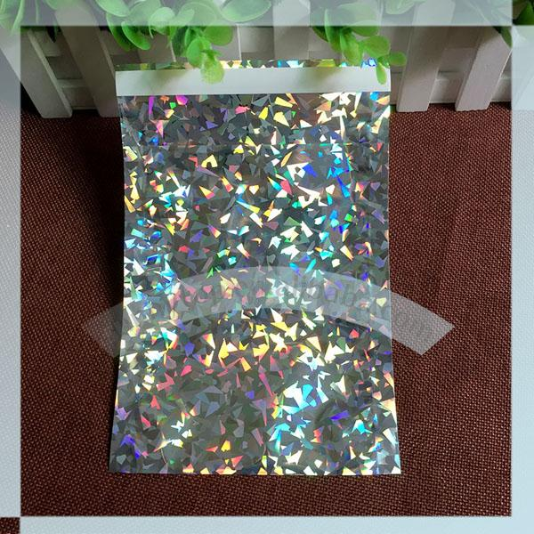 """165x165 square ( 6.5"""" x 6.5"""") Holographic foil poly mailer"""