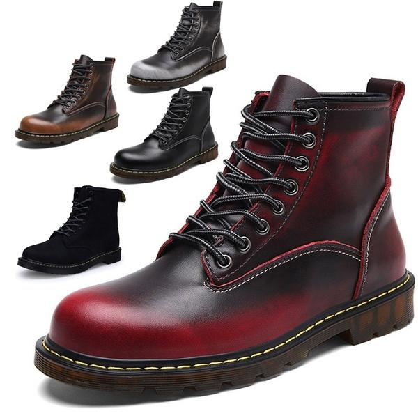 best prices modern and elegant in fashion fashionable and attractive package Winter Leather Dr Martin Boots Fur Martin High Top Casual Shoes Men Women  Boots Ankle Botas Brand Motorcycle Boots Canada 2019 From Jeybbbb, CAD ...