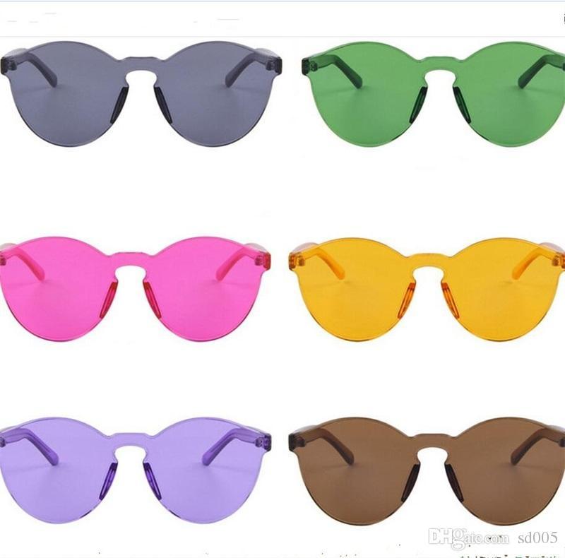 Großhandel Mode Runde Sonnenbrille Candy Farbe Frauen Kunststoff Sonnenbrille Leicht Zu Reinigen Blendschutz Männer Brillen Licht Komfortable