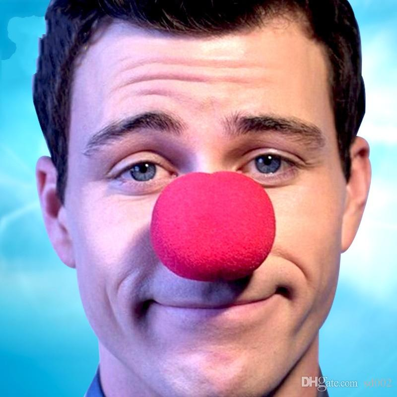 Косплей мяч выполнить клоун красный нос губка макияж Хэллоуин Гулы портативный партия пользу поставки чистый цвет 0 55fk bb