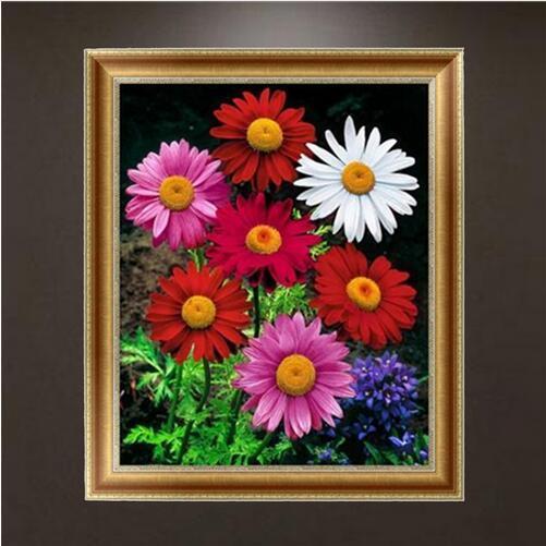 5D DIY flor niña diamante pintura punto de cruz artesanía decoración del hogar