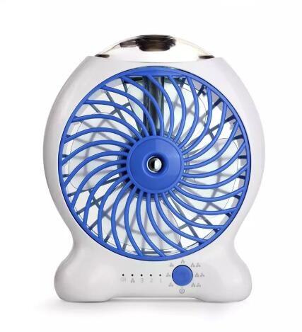 Mini Water Mist Cooling Fan USB With 1200mAh Rechargeable 18650 Battery 25ml Water Tank Portable USB Spray Fan 3 Level Strong Wind