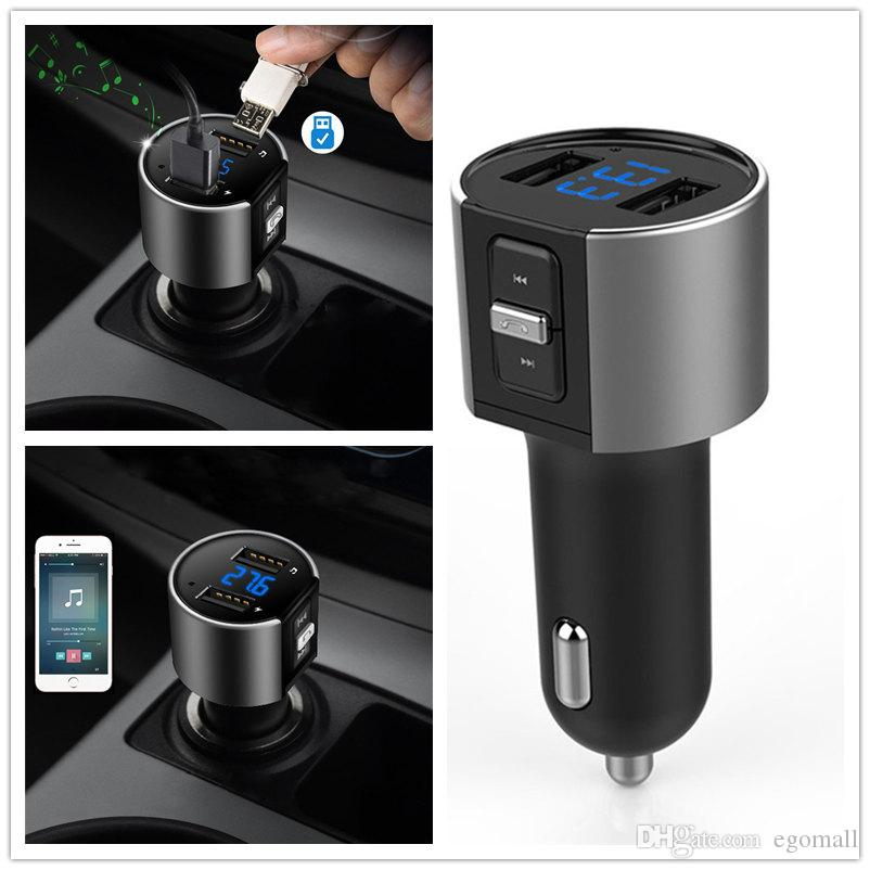 Wireless In-Car Bluetooth FM Transmitter Radio Adapter Car Kit Black MP3 Player USB Charge Free Shipping