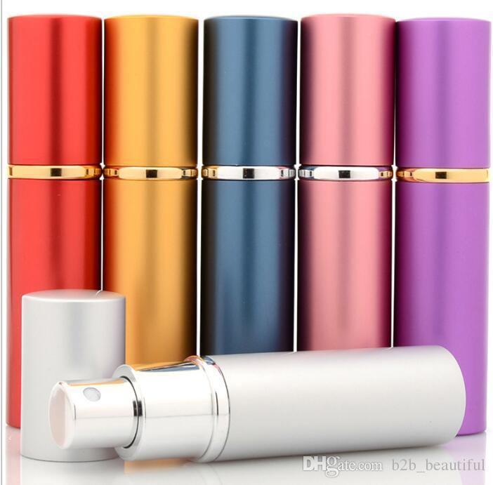 10 ml Alüminyum Cam Parfüm Şişesi Parfüm Refillabe Taşınabilir şişe Doldurulabilir Mini Koku-şişe Parfüm Atomizer Boş Şişe KKA3834