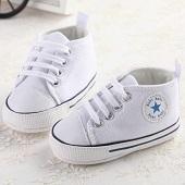 Baby First Walkers Shoes Холст обувь Младенческая повседневная кружева-UP спорта весной и осенью Детская обувь