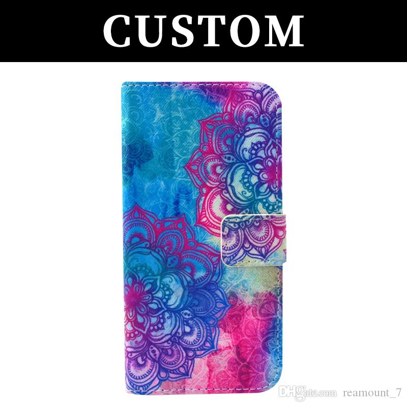 50pcs Wholesale Colorful Leather Case for iPhone X 8 8 Plus UV Printing Custom Design Your Own Logo Printing for iPhone 6 5
