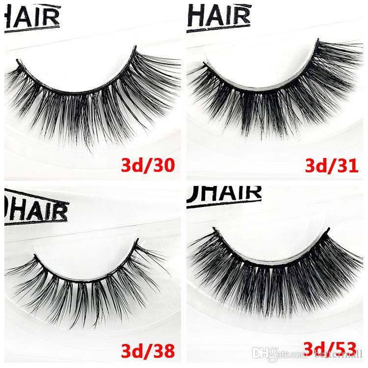 Thick Mink 3D hair false eyelashes makeup accessories hand-made reusable mink lashes 12 styles available DHL Free fake lashes YL011