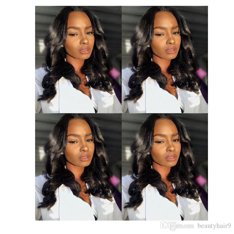 мода долго свободный парик волны моделирование человеческих волос парик волны парик черного цвета для женщин на складе