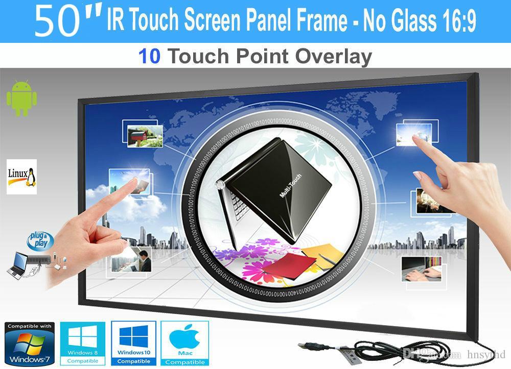 "Écran LCD / LED 10 Touch IR Overlay Panel Panel Interactive 50 ""- Pas de verre"