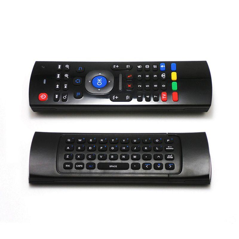 MX3 이러한 무선 미니 키보드 에어 마우스 원격 제어 2.4G 감지 자이로 스코프 센서 MIC 콤보 MX3를 들어 MXQ M8S S905 안드로이드 TV BOX