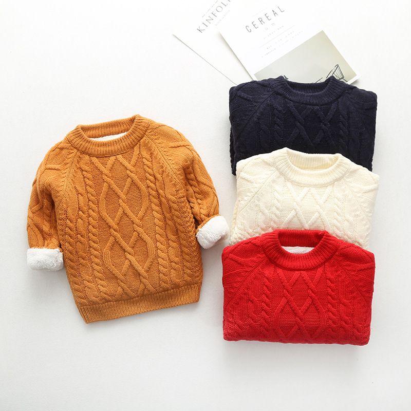 Crochet Baby Sweater Knitting Baby Fleece Sweater Twist Winter