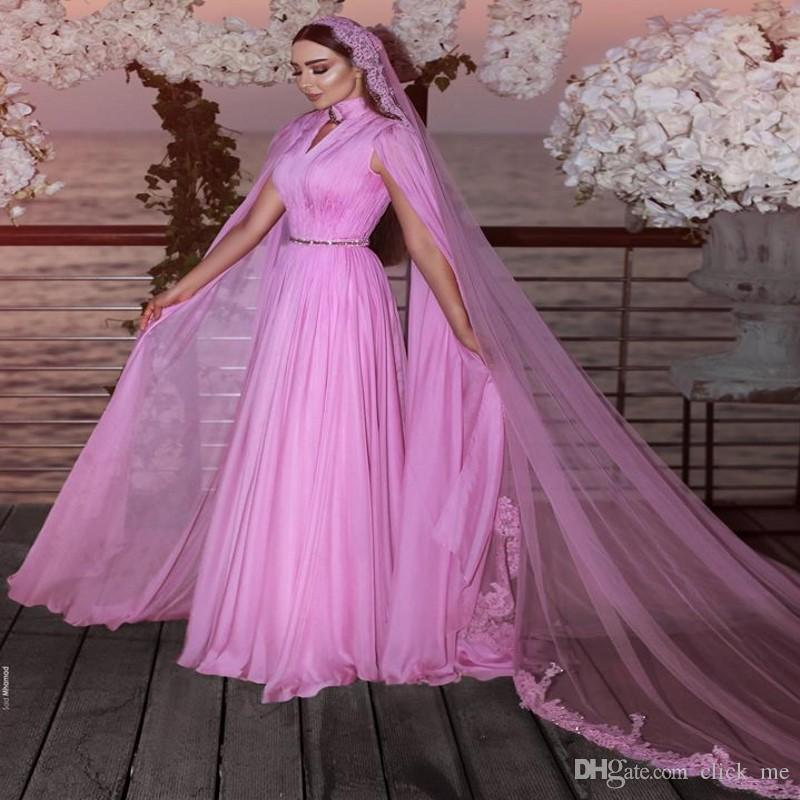Элегантные вечерние платья с накидкой с высоким воротом и кружевными аппликациями Африканское платье для выпускного вечера без фаты платье для особых случаев vestidos de fiesta