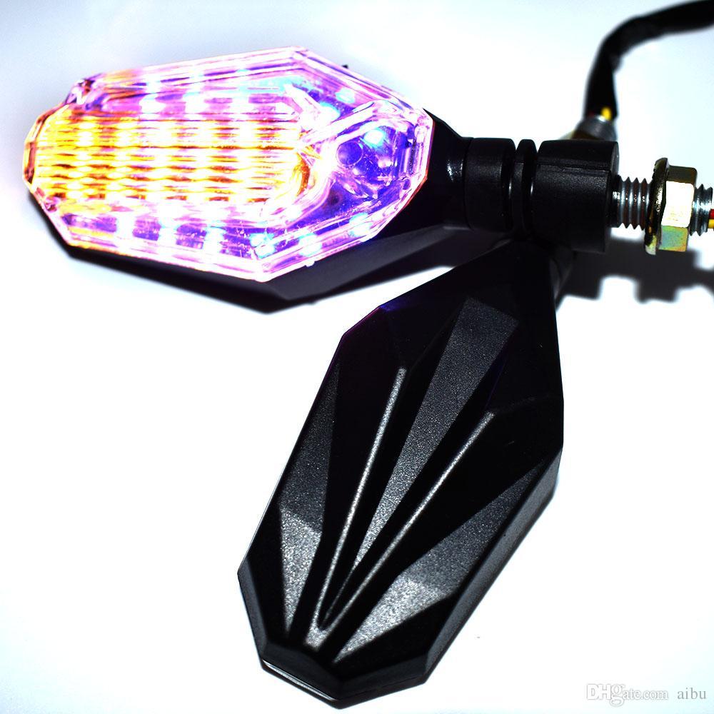 For 12V 12 LED motorcycle turn signal indicators lights / lamp for MOTO GUZZI BREVA 750 1200 SPORT nevada 750 MV BRutale 675 800RR