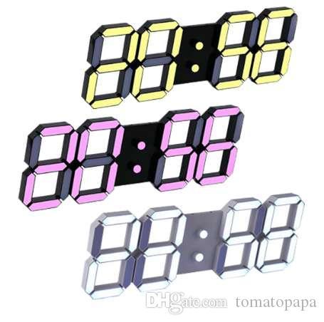 Neueste moderne Wanduhr Digital LED Tischuhr Uhren 24 oder 12-Stunden-Display Uhr Mechanismus Alarm Desk Alarm