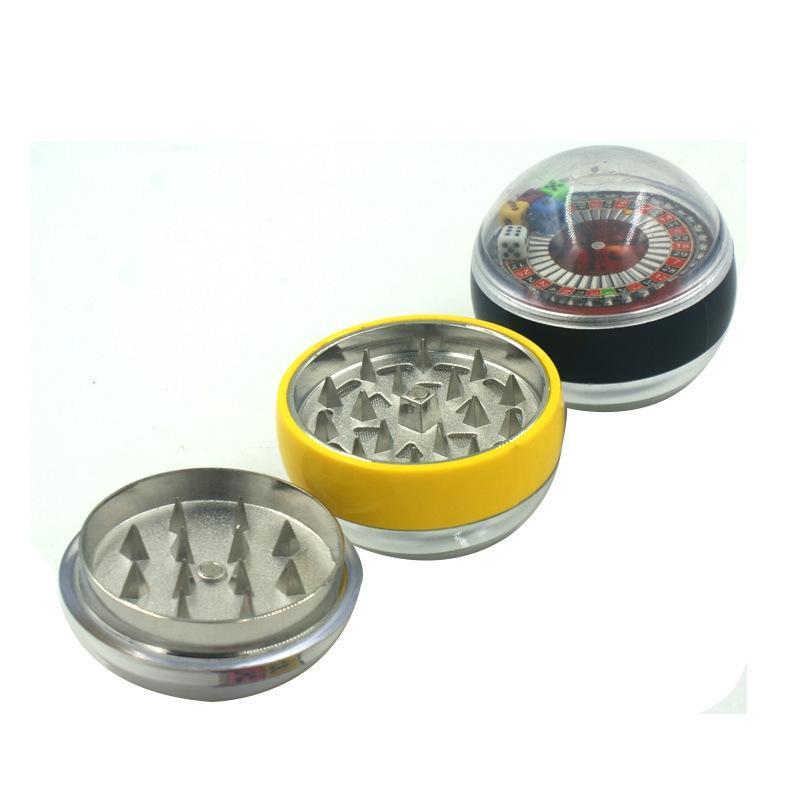 Kolorowe Dice Wzór stopu cynku Akrylowe Mini Zioła Szlifierka Spice Miller Kruszarka Wysokiej Jakości Piękna Unikalna Projekt Najsilniejszy Magnetyczny DHL