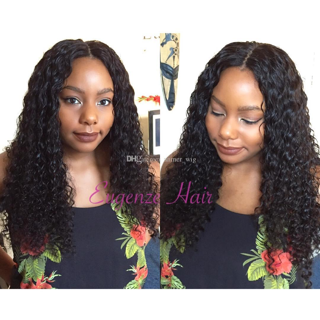 2018 6a 100% unprocessed remy virgin soft shine human hair natural color long afro curly full lace wig for women