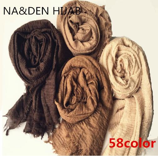2018 Hot sale bubble plain scarf/scarves fringes scarf women soft solid hijabs foulard muffler shawls big pashmina muslim wrap Y18102010