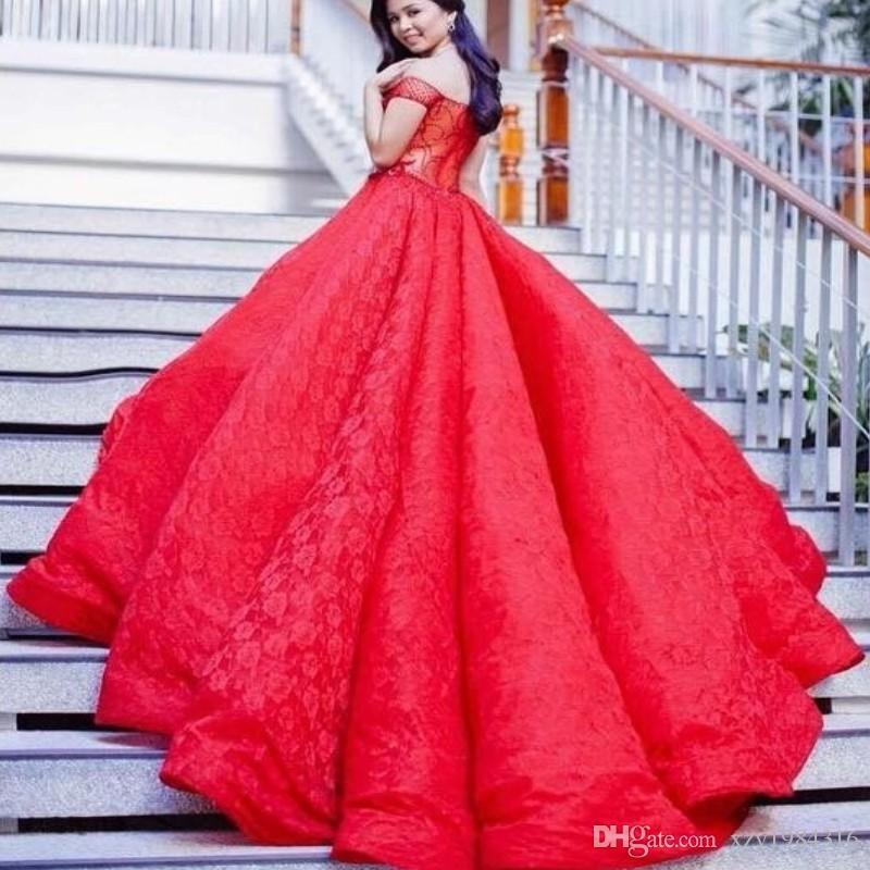 Saudi Plus Size Prom Dresses Sexy Off Shoulder Lace Ball Gown Princess Party Dress 2018 Glamorous Pageant Dress Cheap Vestidos De Fiesta