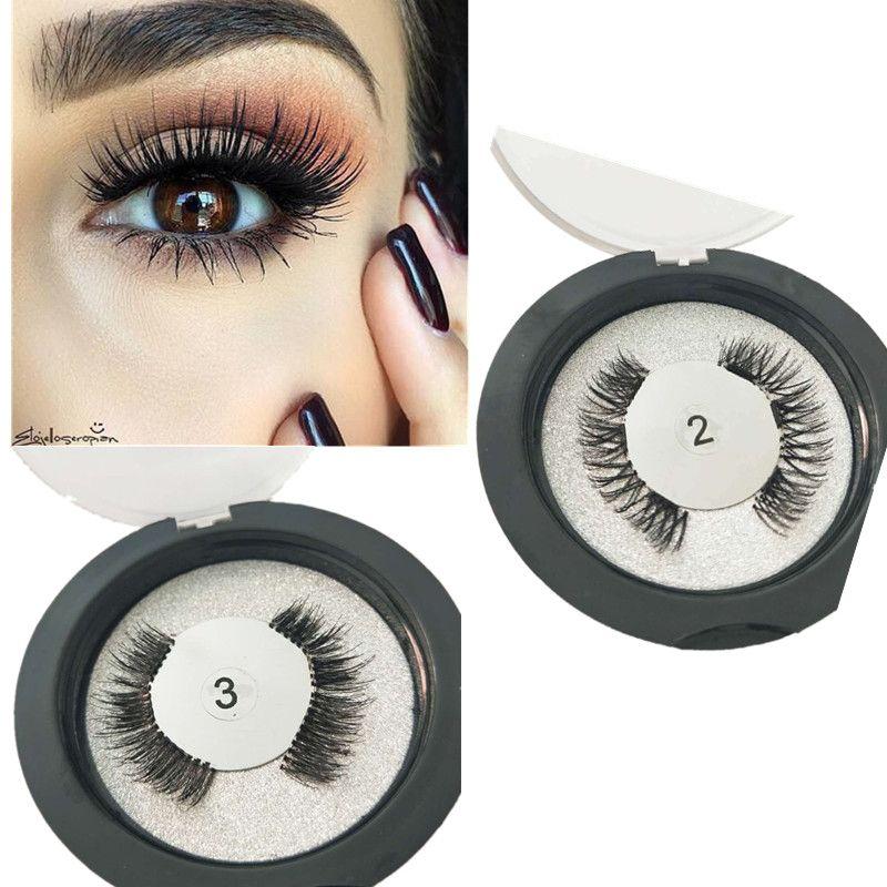 3 Magnet 3D Magnetic Eyelashes Clear Band Magnet Lashes Thicker Reusable False Eyelashes Handmade Eye Lashes Makeup Can Custom Box
