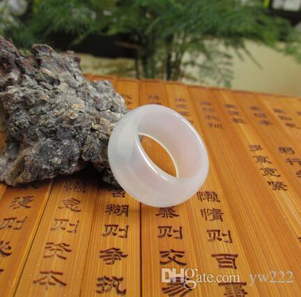 Naturalne lodowe rodzaje białych pierścienia agatowa szerokość modeli męskich i żeńskich Jade Pull Correction Products