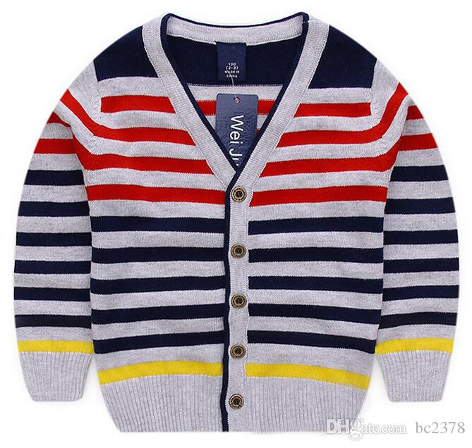 Handsome V Neck Boy Sweater Striped Cardigan Choice Spring Style 100%  Cotton Great Workmanship Baby Girl Cardigan Sweater Girls Cardigans Shrugs  From Bc2378, $45.04| DHgate.Com