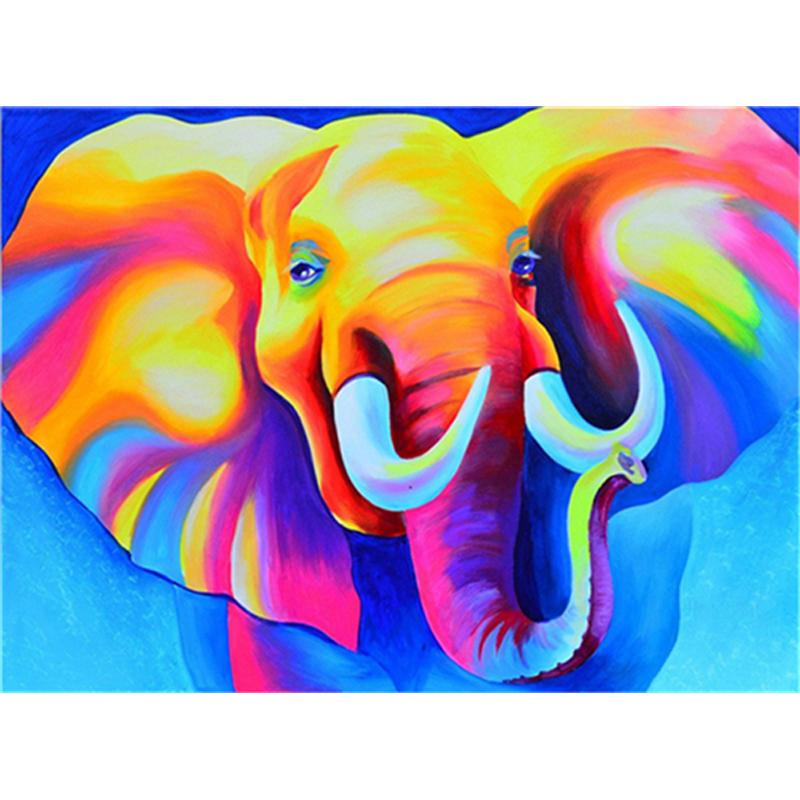 DIY diamond painting cartoon color elephant cross stitch mosaic 5D diamond embroidery needlework full round rhinestone decoration gift