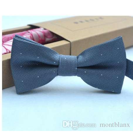 Marca nueva moda popular mariposa gravata partido bowtie boda pajarita para niñas niñas color caramelo patrón de punto bowknot