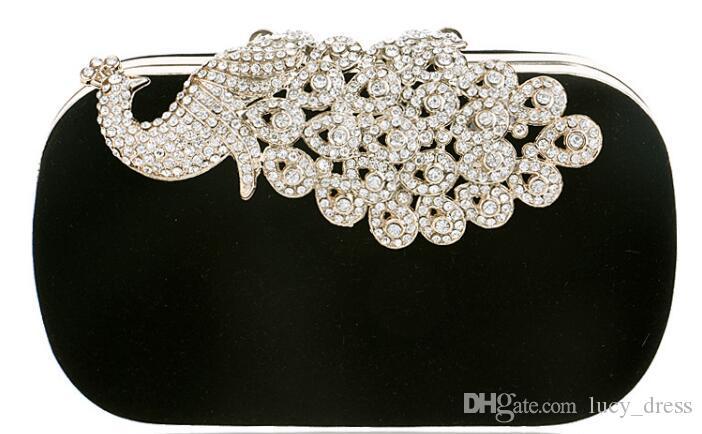 Europa y los Estados Unidos Peacock Diamond Dinner Bag Variedad de colores Vestido de banquete para mujer Clutch