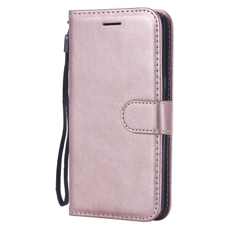 Funda con billetera para Samsung Galaxy J2 Core Funda con tapa trasera Color puro Cuero de PU Bolsas para teléfonos móviles Coque Fundas
