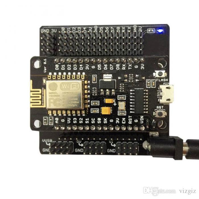 NodeMcu V3 Lua CH340G ESP8266 WiFi Module NodeMCU I//O Breakout Expansion Board