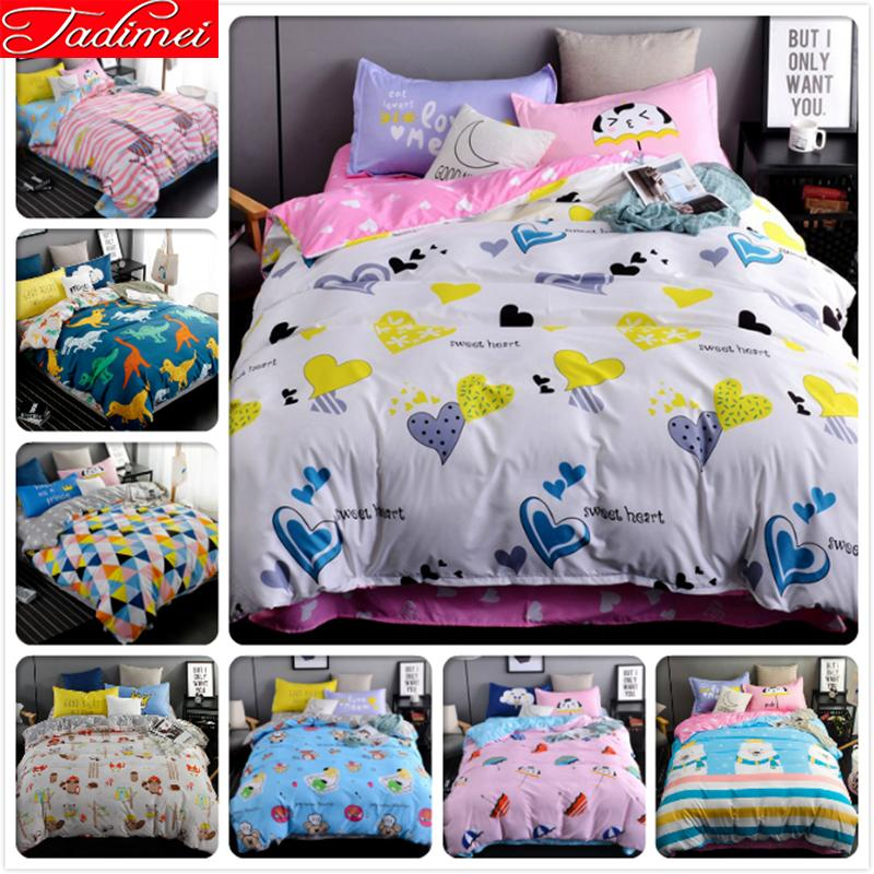 Kids King Size Bedding.3 Bedding Set Adult Kids Child Soft Cotton Bed Linen Quilt Comforter Bed Linen Single Twin Full Queen King Size Bedspreads King Size Bedding Set Fairy