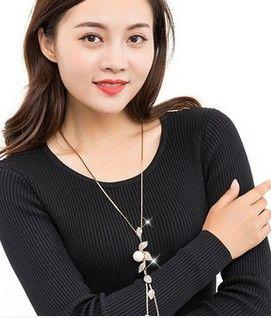 мода низкая цена высокое качество натуральный жемчуг длинные кисти леди ожерелье (5.99) vbvb
